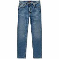 【人気No.1】 Lean Dean Nudie Jeans Co Mid Jean Nudie Nudie Blue メンズデニム Jeans Co-パンツ・ボトムス