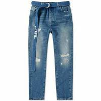 【セール】 Crotch Vintage Slim Low メンズデニム Off-White Off-White Jean Damaged-パンツ・ボトムス