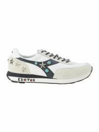 超熱 The Editor メンズスニーカー The Editor Customized Diadora Sneakers Bianco, 岡山児島ジーンズ Star-Foot 02916deb