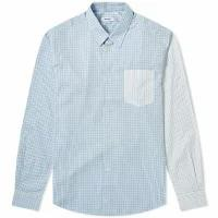 【今日の超目玉】 Tres Panel Bien メンズシャツ Multi Tres Bien Tr?s Bien Multi Bien Mixed Panel Shirt Check & Stripe, 服道楽 --:d6a46fcd --- kulturbund-sachsen-anhalt.de