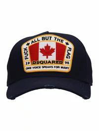 【メーカー直売】 Dsquared2 メンズ帽子 Dsquared2 Blue Cotton Flag Cap blue, 柵原町 f46ba842