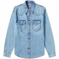 【中古】 Acne Acne メンズシャツ Blue Studios Trash Indig Mid Studios Shirt Western-トップス