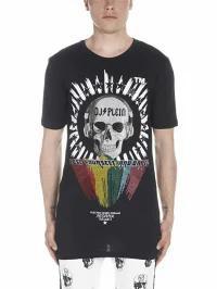 絶妙なデザイン Black Plein Plain T-shirt Philipp Philipp dj メンズトップス Plein-トップス