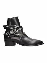 品質満点! AMIRI メンズシューズ AMIRI Black AMIRI Leather AMIRI Black Bandana Buckle Boots black, 養老町:3c1bf4ef --- united.m-e-t-gmbh.de