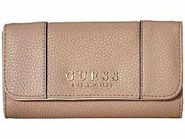GUESS メンズバッグ GUESS Heidi SLG Slim Clutch Taupe