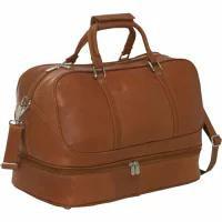 【爆売り!】 Piel メンズバッグ Piel False Bottom Sports Bag Saddle, ジュエリーメビウス 130a4127
