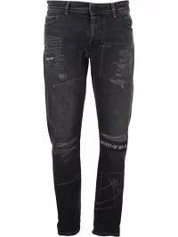 『5年保証』 Marcelo Burlon メンズデニム Marcelo Marcelo Burlon Distressed Burlon Jeans Distressed 7388vintagewa, 欧風菓子クドウ:65a49479 --- stunset.de