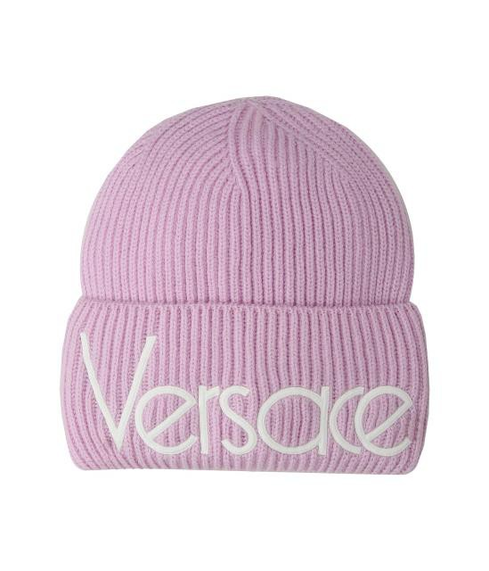 高級素材使用ブランド Versace ヴェルサーチ Vintage 帽子 ハット 帽子 Vintage ハット Versace Logo Beanie, 岩泉町:8347cf58 --- stunset.de