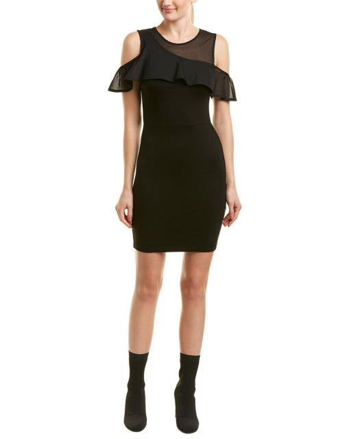 French Connection フレンチコネクション ファッション ドレス French Connection Cold-Shoulder Sheath Dress 4 Black