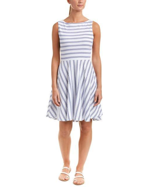 Three Dots スリー ドッツ ファッション ドレス Three Dots Stripe A-Line Dress