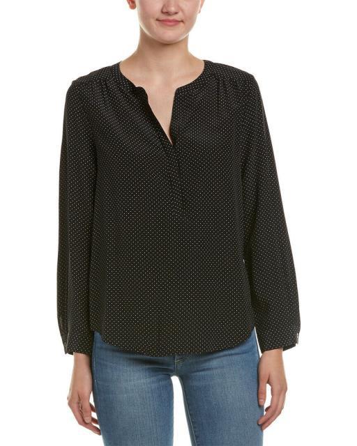 【スーパーセール】 carita カリタ トップス ファッション トップス Joie Joie Carita Silk Blouse Blouse Xxs Black, タカオカシ:cf916f77 --- chevron9.de