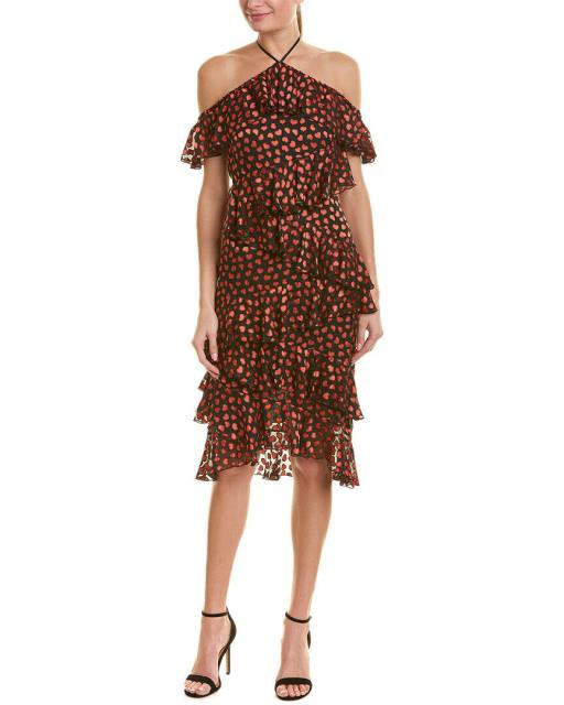 人気満点 Alice + Olivia Silk-Blend Olivia アリス+オリビア ファッション ドレス Alice + Olivia Olivia Off-The-Shoulder Silk-Blend Midi Dress, 三島の通販:0f3fc69f --- 1gc.de
