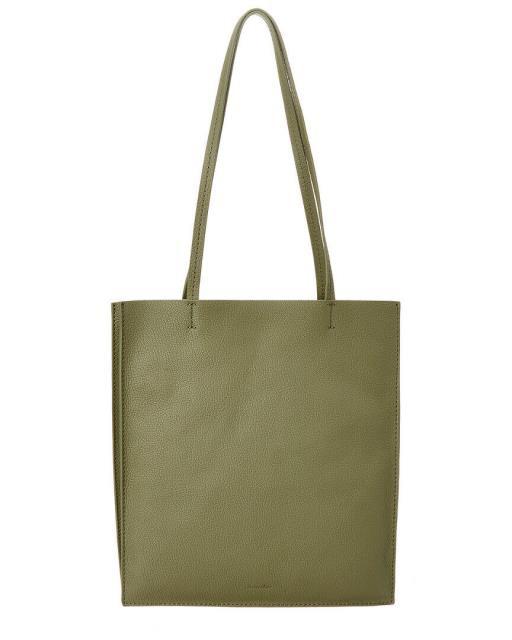 2019最新のスタイル ファッション バッグ Steven Alan Maddox Accordion Gusset Leather Tote Green, Cedar Field 19499d3d