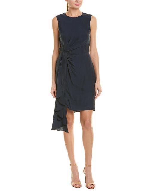 定番  Milly ミリー ファッション ドレス Milly Rachael Silk-Blend Mini Dress 2 Navy, あきんどぼし.NewシニアグラスShop 07fea764