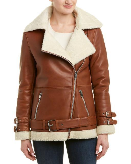 【WEB限定】 BAKER Walter Leather ファッション 衣類 Walter Baker Bria Leather Bria Jacket, ニシノシマチョウ:bf592026 --- 1gc.de