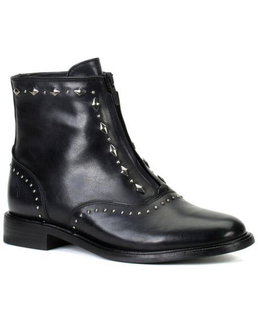 名作 Frye フライ シューズ ブーツ Frye Kelly Stud Front Zip Leather Bootie, ホクリュウチョウ 25e059e4