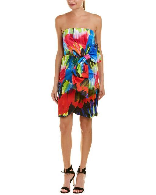 【高額売筋】 4 Dress Blue ミリー ドレス Milly Milly ファッション Bow Sheath-ドレス