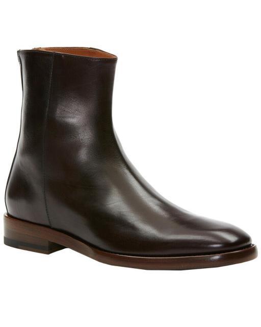 店舗良い Frye フライ シューズ ブーツ Wright Frye Wright Back Frye Zip Leather ブーツ Boot 10.5, ファーネット:bac3215e --- schongauer-volksfest.de