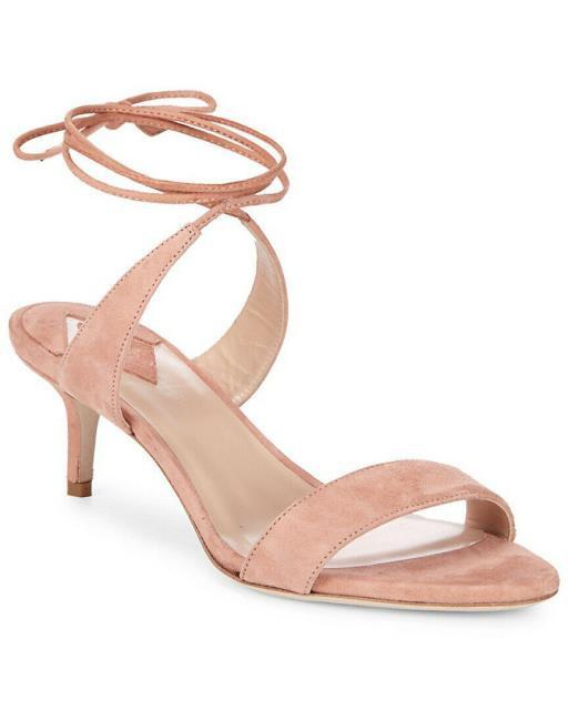 【初回限定】 ファッション Ankle サンダル Aperlai Aperlai Ankle Suede Wrap Suede Sandal 38 Pink, ナナヤマムラ:0030c876 --- 1gc.de