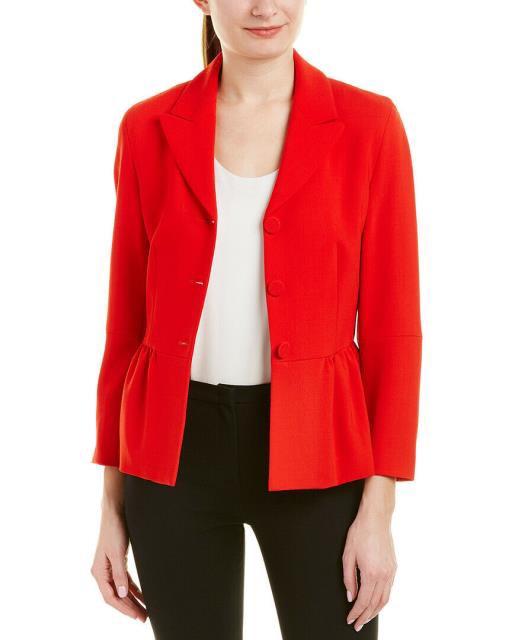 正規品 Blazer ブレザー ファッション フォーマル Escada Wool-Blend Blazer 36 Red, ウルマックスジャパン d675b664
