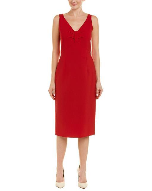 全てのアイテム Oscar de Dress la Renta Sheath オスカーデラレンタ Oscar ファッション ドレス Oscar De La Renta Wool-Blend Sheath Dress 6 Red, QUESTONS -クエストン-:869f269b --- chevron9.de