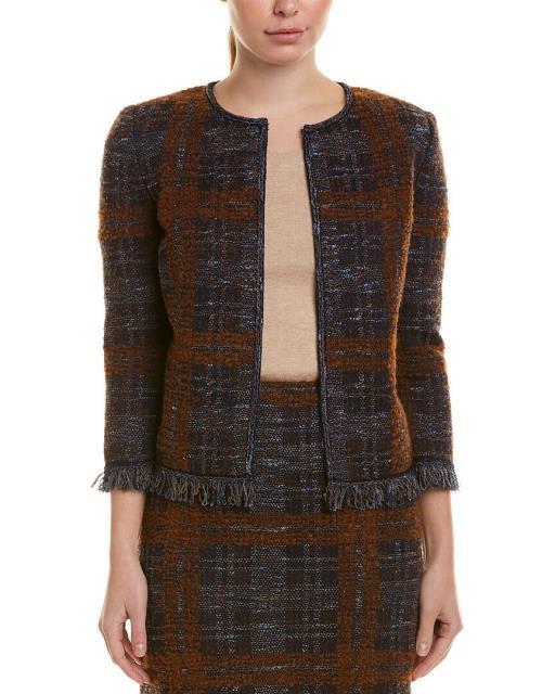 正規通販 ファッション 衣類 St. John Wool-Blend Jacket, 天然石 虹石 5686867f
