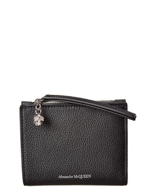 【誠実】 Alexander McQueen アレキサンダーマックイーン ファッション 財布 Alexander Mcqueen Leather Bifold Wallet Black, アッドルージュ a6e1db7f
