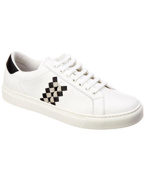 激安本物 bottega ボッテガ ファッション シューズ Bottega Veneta Checker Leather Sneaker, 小野東風軒 2e559e78