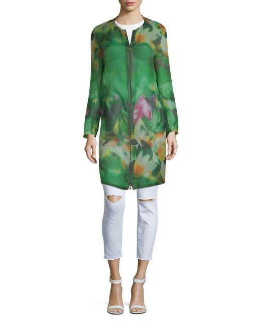 若者の大愛商品 Akris アクリス ファッション Akris 衣類 Akris 10 Silk Jacket ファッション 10 Green, 亀井蒲鉾:893c9335 --- eu-az124.de