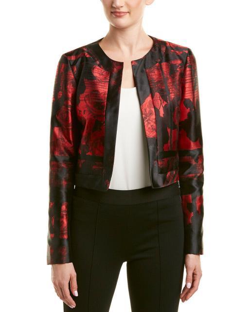 最適な材料 Carolina ファッション 衣類 衣類 Carolina Herrera 10 Silk-Lined Jacket ファッション 10 Red, タイジチョウ:0b19bf6c --- ai-dueren.de