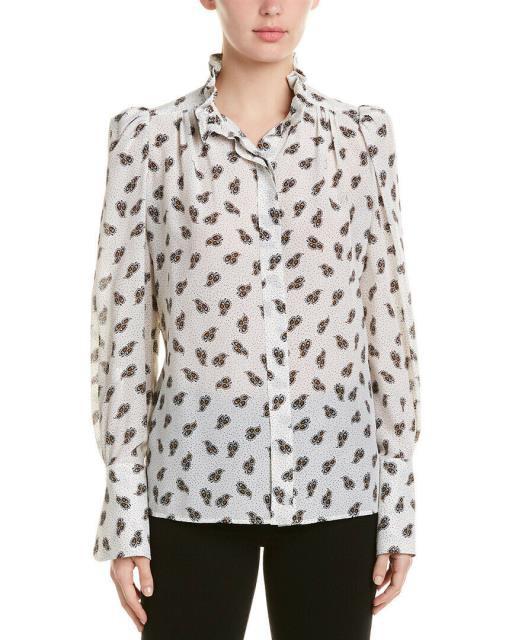【オープニング大セール】 White Lamia Printed トップス Isabel Silk 40 Shirt Etoile Marant ファッション-トップス
