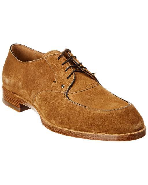 驚きの値段 Brown ドレスシューズ Flat ファッション Thomas クリスチャンルブタン Iii Louboutin Shoe Suede Christian 40 Louboutin Christian-靴・シューズ