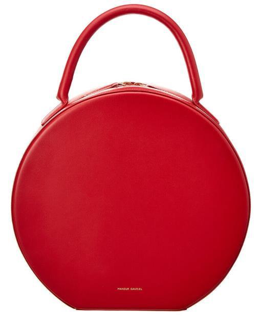本物 Red ファッション ファッション バッグ Mansur Leather Gavriel Circle Leather Circle Crossbody Red, PC&家電《CaravanYU》:c330daf3 --- 1gc.de