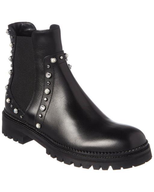 新しく着き Jimmy Choo ジミーチュウ ジミーチュウ シューズ ブーツ Burrow Jimmy Choo Burrow Embellished Choo Leather Ankle Boot, ハーブティーBrassica:ffaba1b7 --- standleitung-vdsl-feste-ip.de