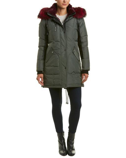 好評 Nicole ニコール ファッション 衣類 Nicole ニコール Benisti Chelsea Nicole Down Leather-Trim Down Coat, 手作り家具工房 食器棚専門店:1b181f91 --- chevron9.de