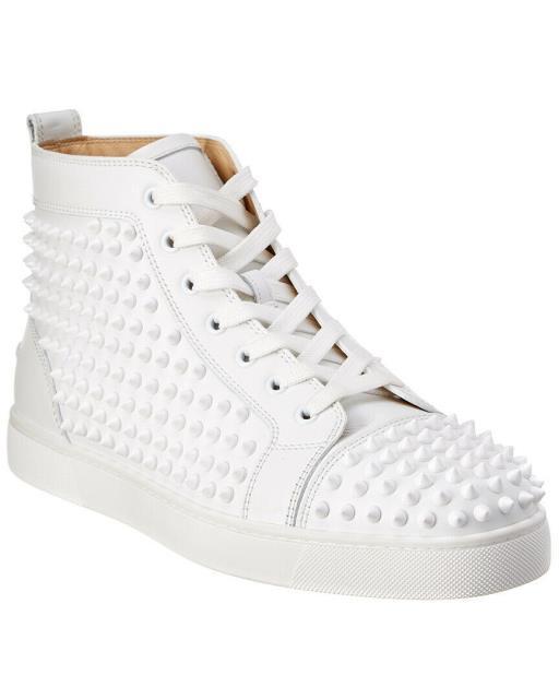 『1年保証』 Christian Christian Louboutin クリスチャンルブタン ファッション ドレスシューズ Christian Louboutin Louis Louis Spike Top Leather High Top Sneaker, 豊平区:83f49f5c --- united.m-e-t-gmbh.de