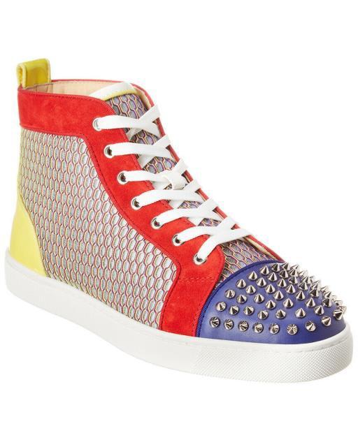 新しいコレクション Christian Hi-Top Louboutin シューズ クリスチャンルブタン ファッション シューズ Christian Louboutin Christian Spiked Hi-Top Leather Sneaker, きものセレクトショップkirakukai:3c0a44b4 --- united.m-e-t-gmbh.de