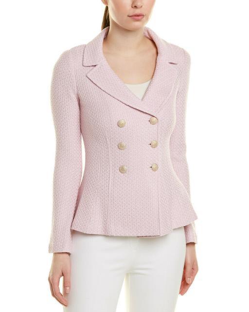 【クーポン対象外】 ファッション 衣類 St. John Wool-Blend Jacket S Pink, フォーシーズンズ 75c784b4
