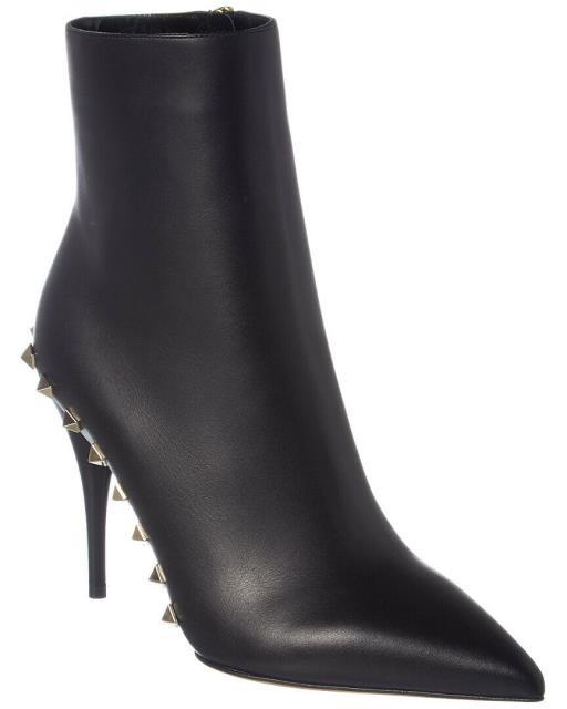 【売り切り御免!】 Valentino ヴァレンティノ シューズ Rockstud ブーツ Valentino Rockstud Leather Leather Ankle Bootie 36.5 36.5 Black, 西原町:95b5985a --- ballettstudio-gri.de