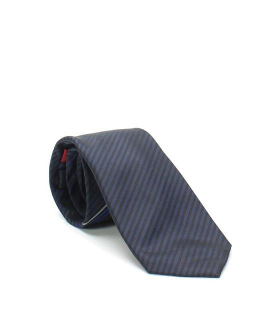 Alfani ファッション 小物 Alfani NEW Navy Blue Mens One Size Stripe Print Sliim Silk Neck Tie