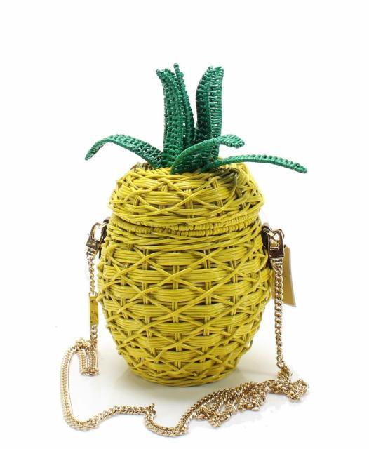 正規品販売! Gold ゴールド ファッション Tropical バッグ ゴールド Michael Kors NEW Pineapple Yellow Gold Wicker Tropical Pineapple Crossbody Purse, サテンマーメイドshop:9d03cc93 --- chevron9.de