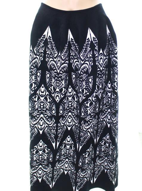 【爆売りセール開催中!】 alaia アライア ファッション スカート Alaia NEW Black Womens Size Medium M Damask Stretch Knit Skirt, 根上町 201885b2