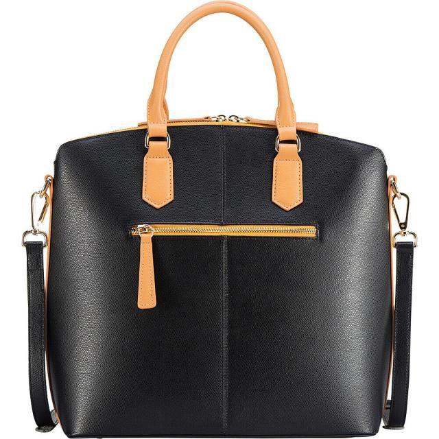 人気新品入荷 Vicenzo Leather ヴィツェンゾ レザー レザー ファッション Leather バッグ Delicio Vicenzo Leather Delicio Leather Top Handle - Black Leather Handbag NEW, 鏡町:14c27489 --- kzdic.de