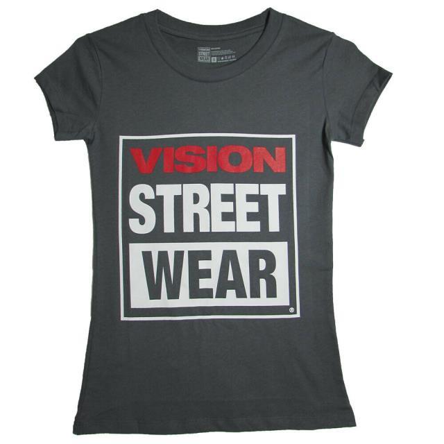 vision ビジョン ファッション トップス Vision Street Wear Womens 2013 VSW Logo Cap Sleeve T-Shirt