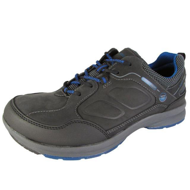 宅配 Allrounder by Mephisto スポーツ用品 シューズ Allrounder By Mephisto Mens Caletto Tex Sneaker Shoes Black/Anthracite US 8.5, くらしの収納館 aa12ae55