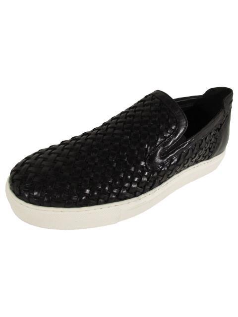 新しい Donald J Pliner ドナルドJプリナー ファッション シューズ Donald J Pliner Uomo Clark-96 Intrecciato Nappa Sneakers Nero US 8.5, このえパン 6169cea2