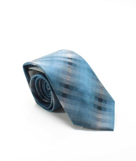 HEATHER ファッション 小物 Kenneth Cole Reaction NEW Teal Blue Mens Heather Ombre Check Neck Tie
