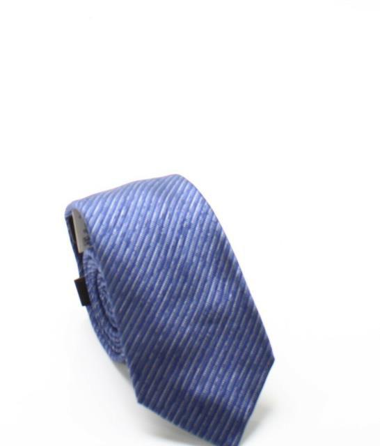 Alfani ファッション 小物 Alfani NEW Blue Mens One Size Thompson Solid Stripe Silk Neck Tie