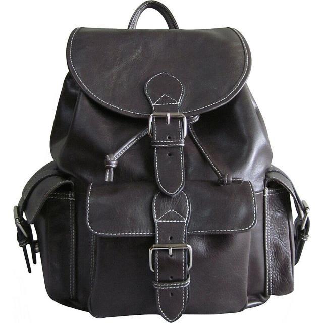 【オープニングセール】 AmeriLeather Backpack Leather AmeriLeather - 旅行用品 Dark Backpack Vacationer Jumbo Travel NEW キャリーバッグ-バッグ