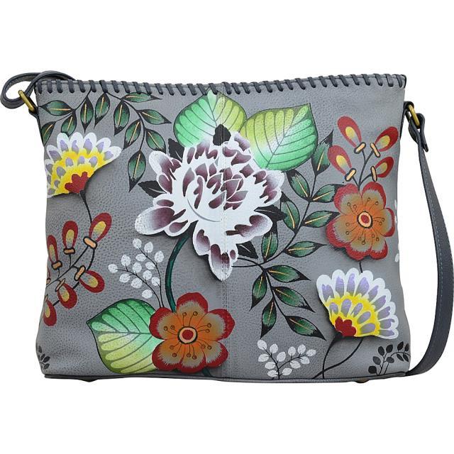 新着 ANNA by Anuschka ファッション バッグ ANNA by Anuschka Hand Painted Leather Shoulder Bag Leather Handbag NEW, 兵庫県朝来市 1892f0db